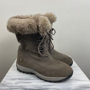 Northside Waterproof Suede Faux Fur Lined Boots 9